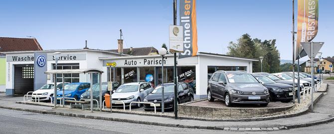 Autohaus Parisch, Ihr Spezialist für VW, Audi und Gebrauchtwagen im Weinviertel. Verkauf: VW, VW Nutzfahrzeuge, Gebrauchtwagen, Service: wir reparieren alle Marken und sind autorisierte Fachwerkstätte für VW, VW Nutzfahrzeuge, Audi. § 57a Prüfstelle.